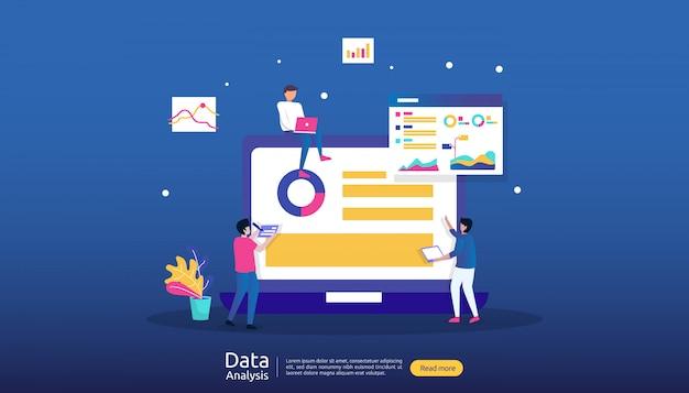 Ilustracja analizy danych cyfrowych do badań rynku i cyfrowej strategii marketingowej