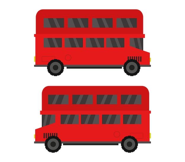 Ilustracja angielskich autobusów