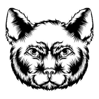 Ilustracja animacji kota dla pomysłów na tatuaż