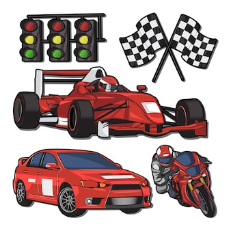 Ilustracja areny wyścigowej