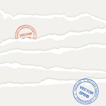 Ilustracja arkuszy poszarpanego papieru