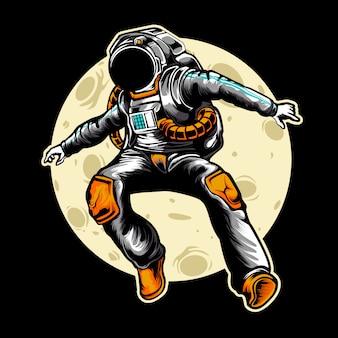 Ilustracja astronauta