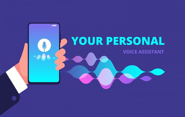 Ilustracja asystenta głosowego