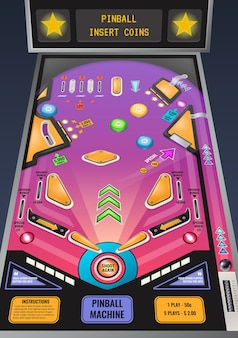 Ilustracja automat do gry w pinball