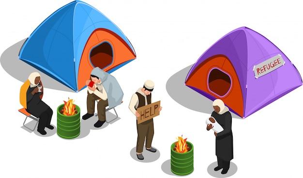 Ilustracja azylu dla bezpaństwowców