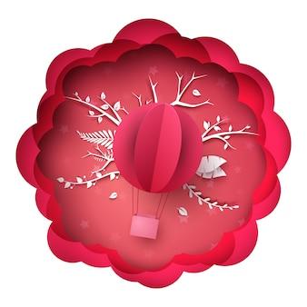 Ilustracja balon powietrza