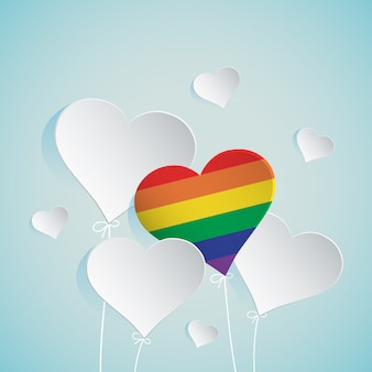 Ilustracja balon serca dla lgbt