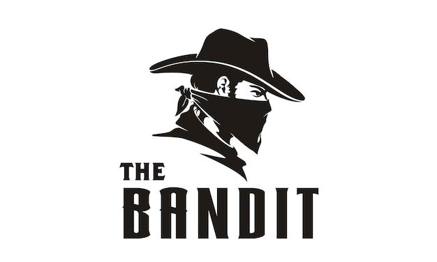 Ilustracja bandyta kowboj