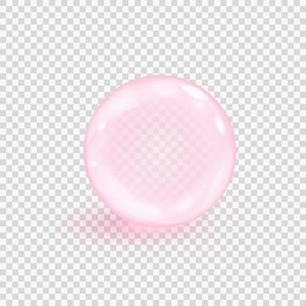 Ilustracja bańka różowy kolagen