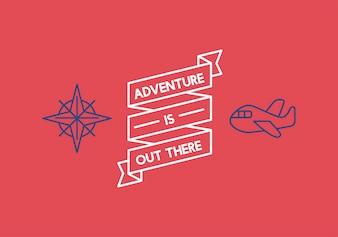 Ilustracja banner wstążki podróży
