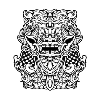 Ilustracja barong bali