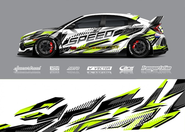 Ilustracja barwienia samochodów wyścigowych