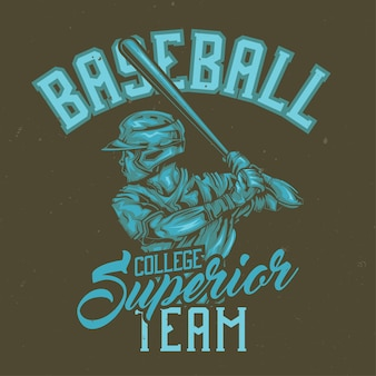 Ilustracja baseballista