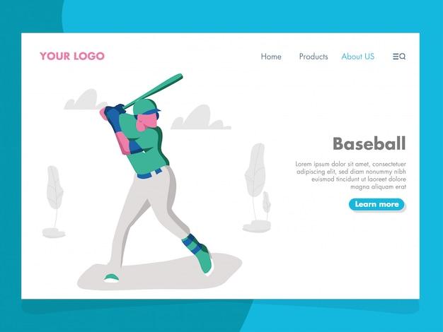 Ilustracja baseballowa na stronę docelową