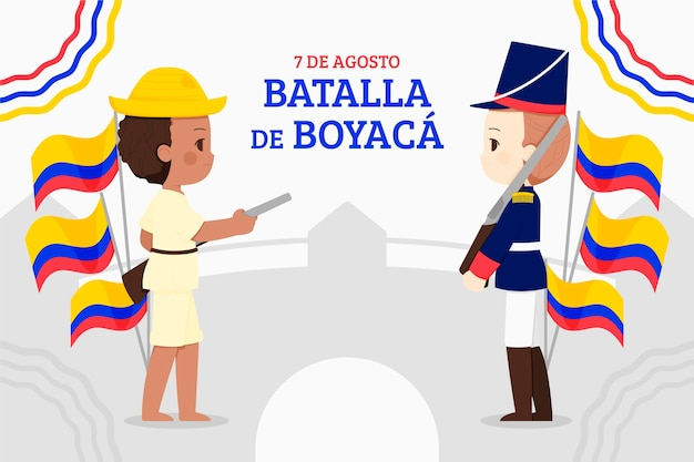 Ilustracja batalla de boyaca