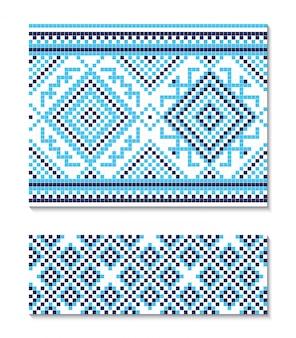 Ilustracja bez szwu ukraiński ornament.