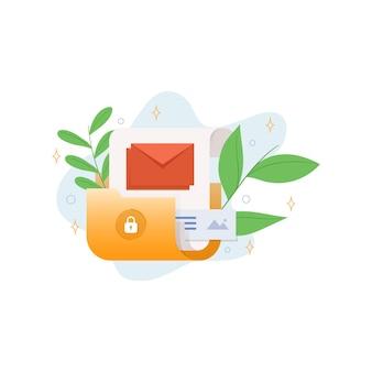 Ilustracja bezpiecznych plików folderów