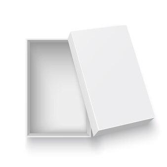 Ilustracja biały otwartego pudełka