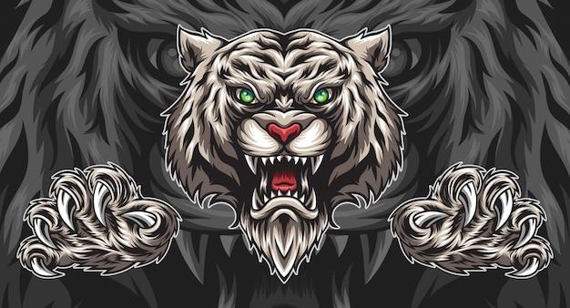 Ilustracja biały tygrys