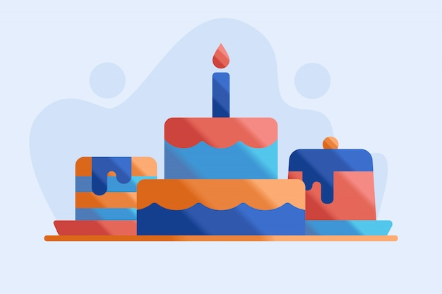 Ilustracja birtday ciasto