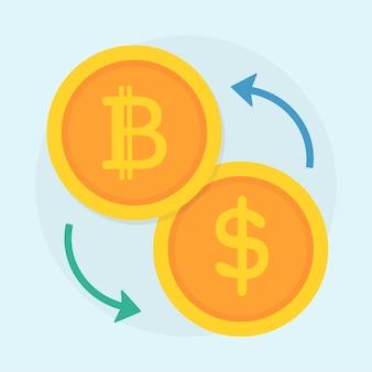 Ilustracja bitcoin pojęcie