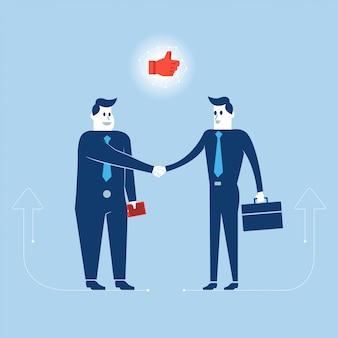 Ilustracja biznesmen działania do działającej działalności gospodarczej.