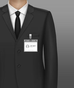 Ilustracja biznesmen formalnie ubrany w klasyczny garnitur