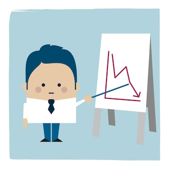 Ilustracja biznesmen niosący pakiet