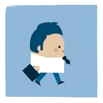 Ilustracja biznesmen spaceru