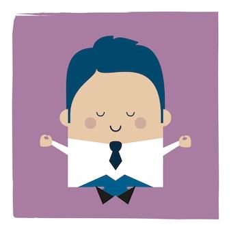 Ilustracja biznesmena zen