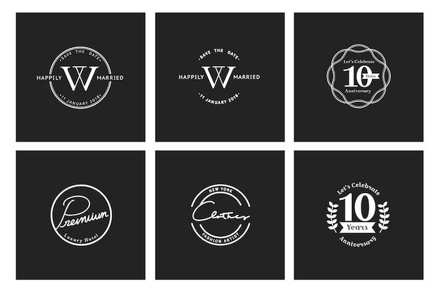 Ilustracja biznesowego sklepu loga znaczka sztandar
