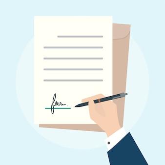 Ilustracja biznesowej zgody pojęcie