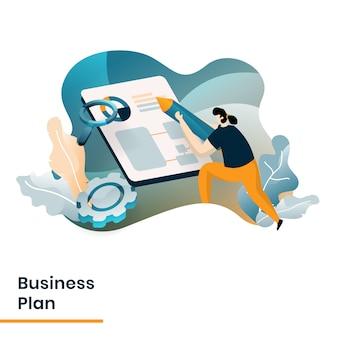 Ilustracja biznesplanu