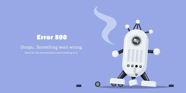 Ilustracja błędu zepsutego robota