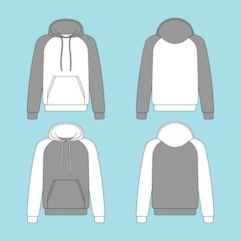 Ilustracja bluza z kapturem