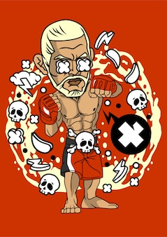 Ilustracja boksera
