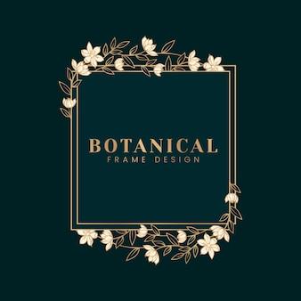 Ilustracja botaniczna kwiatowy makieta