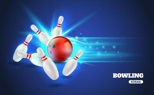 Ilustracja bowling strike