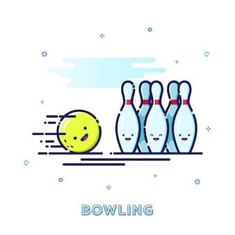 Ilustracja bowling