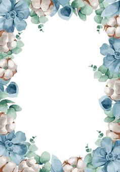 Ilustracja, boże narodzenie wieniec z gałęzi jodłowych, jagód i bawełny