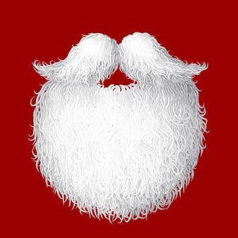 Ilustracja broda świętego mikołaja