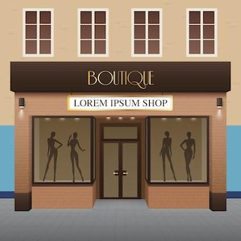 Ilustracja budynek boutique