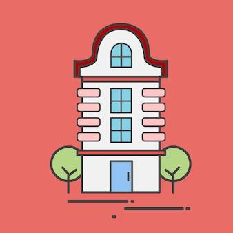 Ilustracja budynek mieszkaniowy
