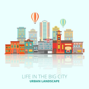Ilustracja budynków miasta
