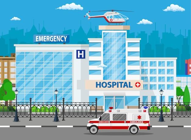 Ilustracja budynku szpitala