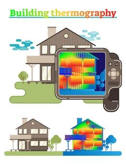 Ilustracja budynku termografii
