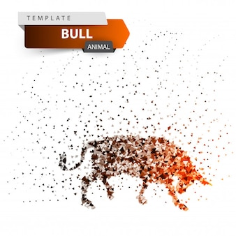 Ilustracja bull dott. rozpryski, blask, słońce.