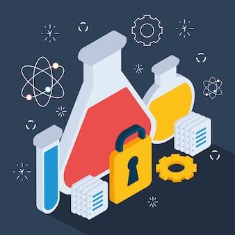 Ilustracja butelek chemicznych