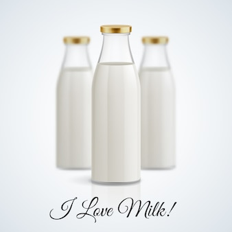 Ilustracja butelka mleka