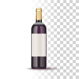 Ilustracja butelki winorośli